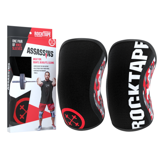 Rocktape Knee Sleeves - Red Camo Assassins - 7mm