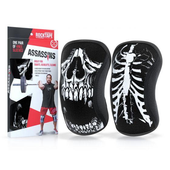 Rocktape Knee Sleeves - Skull Assassins - 7mm