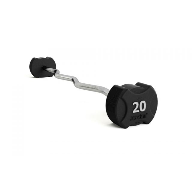 Jordan Ignite Premium Rubber Fixed EZ Curl Bar (10kg - 60kg)