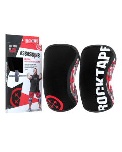 Rocktape Knee Sleeves - Red Camo Assassins - 5mm
