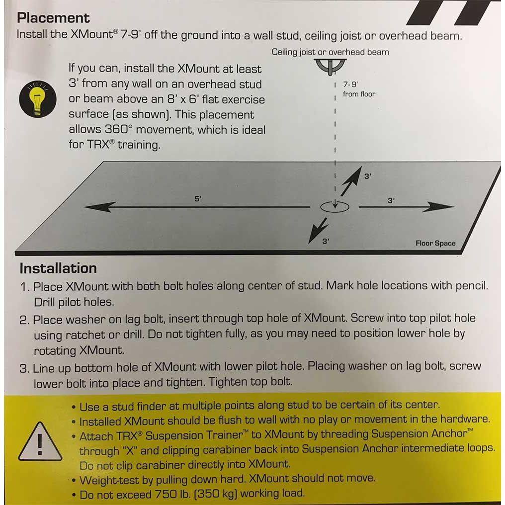 Trx Suspended Ceiling Simple Xmount Wall Steel Mount Bracket