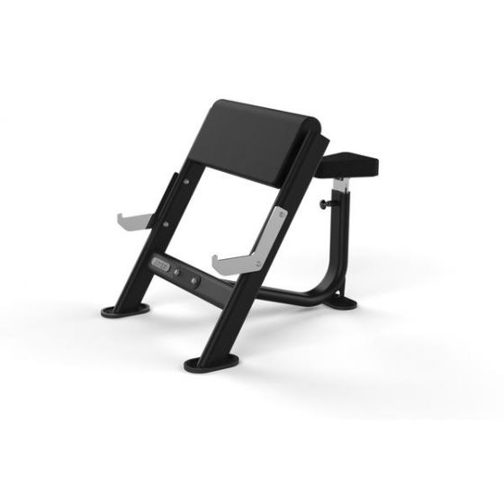SEATED PREACHER CURL BENCH GREY