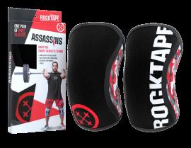 Rocktape Knee Sleeves - Red Camo Assassins - 7mm
