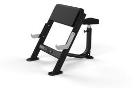 SEATED PREACHER CURL BENCH BLACK